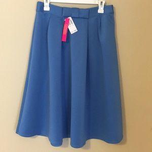 NWT Catherine Malandrino Blue High Waist Skirt